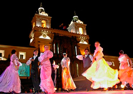 Dance in the Historic Center of Quito