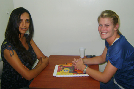 Student with Spanish Teacher of the Terracnetro Spanish School in Quito - Ecuador